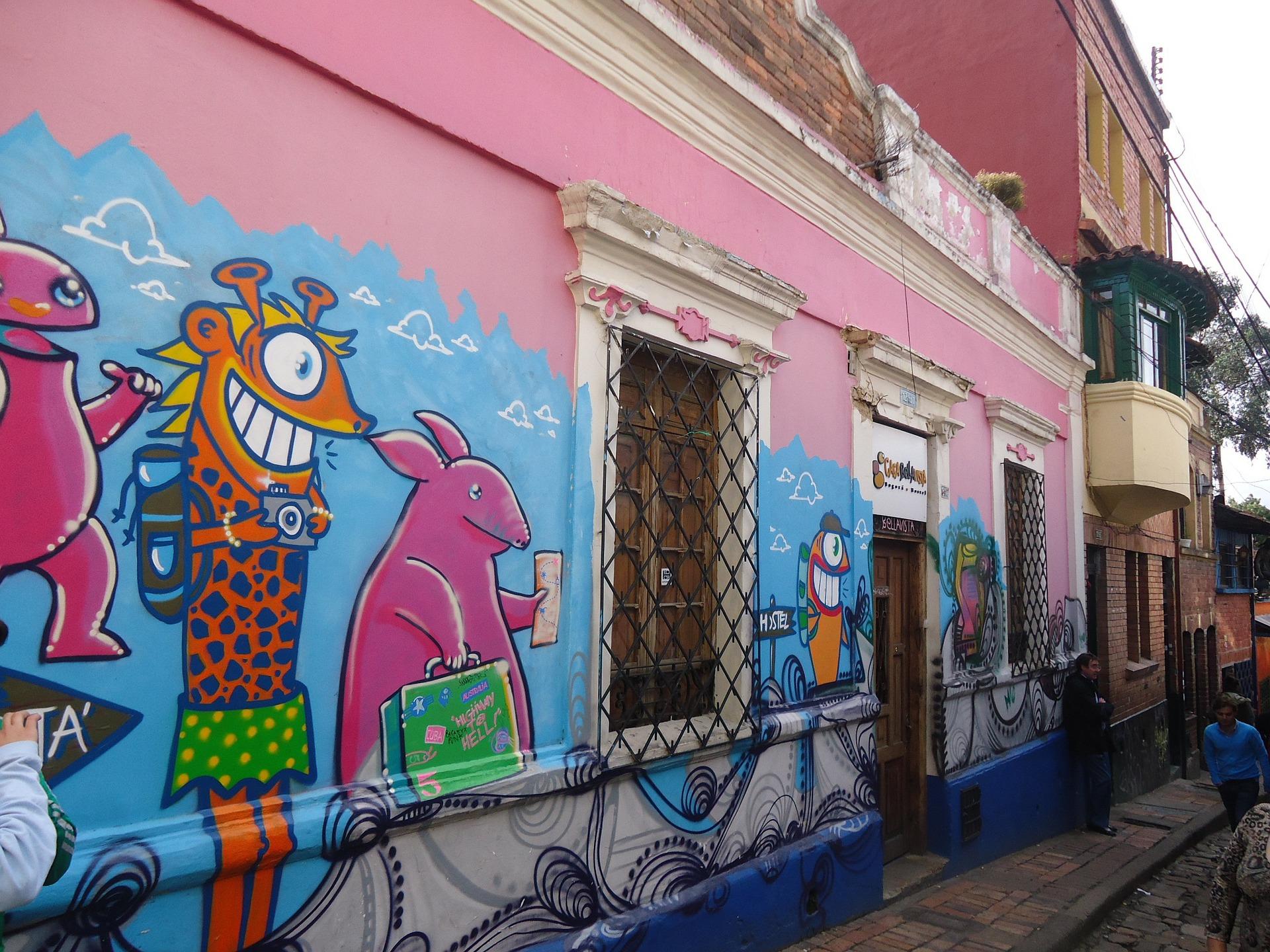 Straßen in der Stadt Bogota