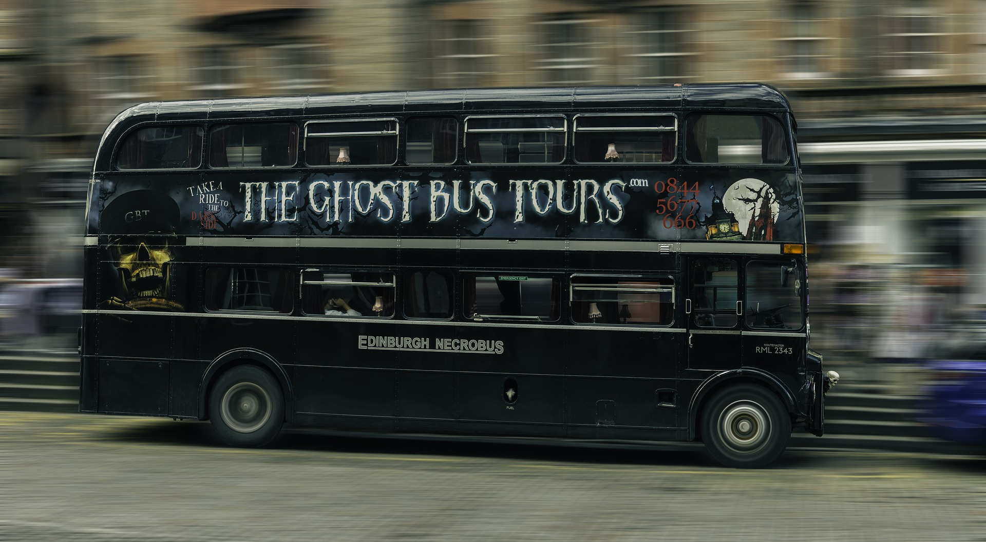 The Ghost Bus Tour durch Edingburgh
