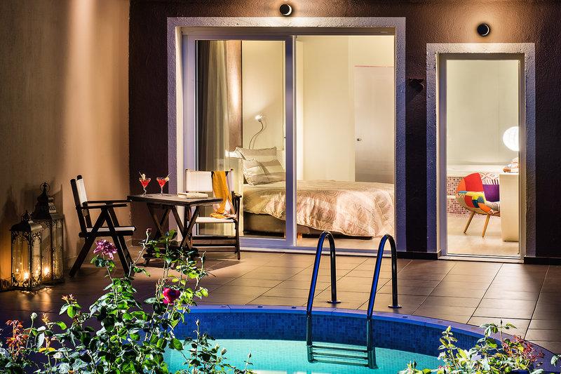Whirlpool im Zimmer & Privatpool auf der Terasse - Thassos All Inclusive Pauschalreise