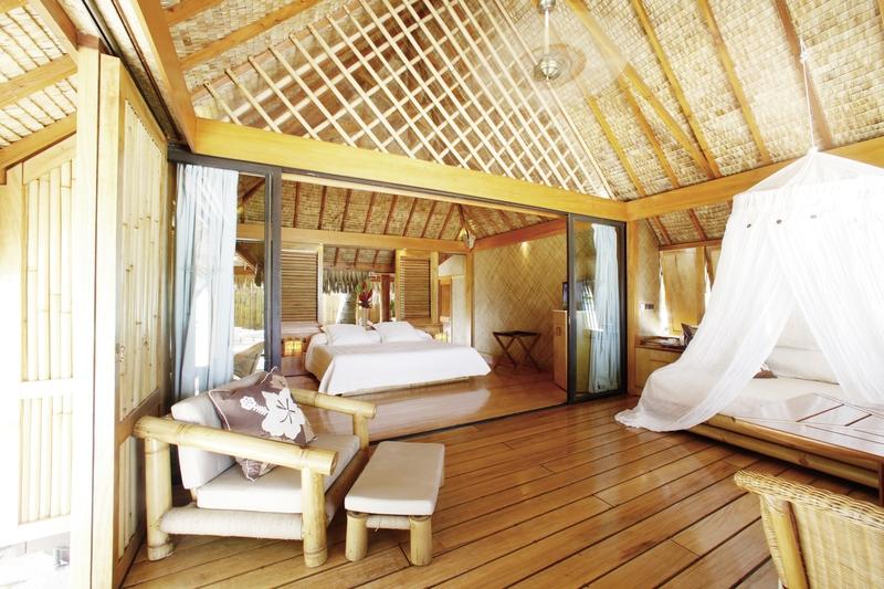 Wohnbeispiel im Beach Resort auf der Insel im Süd Pazifik