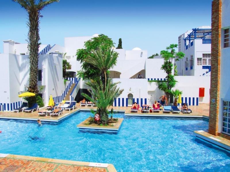 Alleine nach Marokko - so sieht die gemütliche Hotelanlage aus
