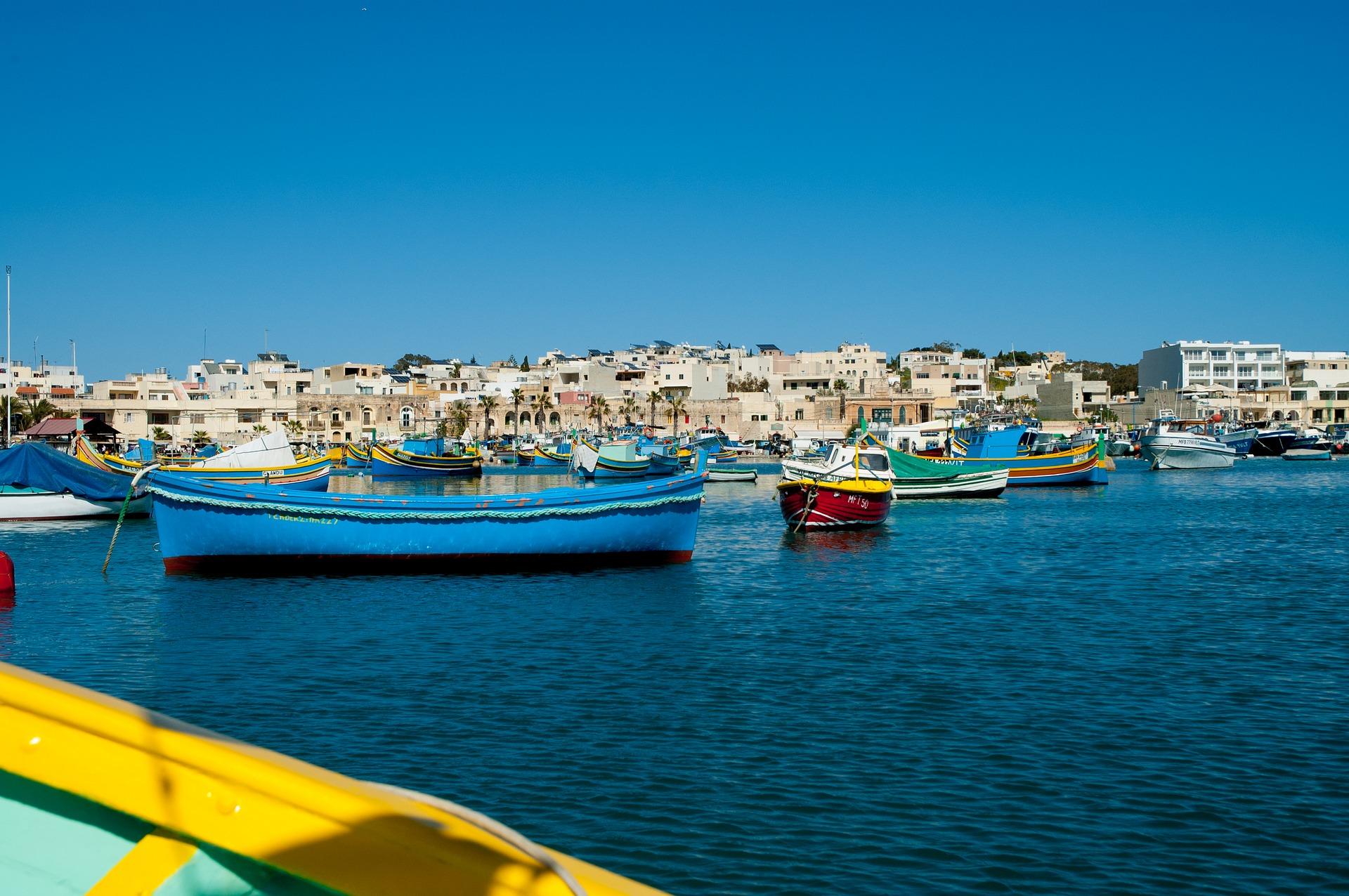 Am Hafen von Malta solltest du dich als Abends aufhalten