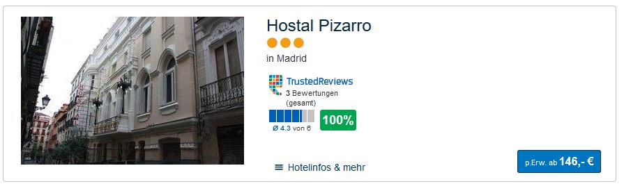 Beispiel Hotel in der Hauptstadt von Spanien