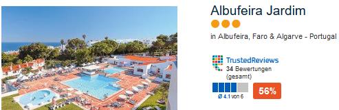 Beispiel für ein günstiges Hotel im Süden Portugals Hotel