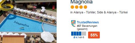 Das 4 Sterne Hotel in Alanya an der türkischen Riviera Magnolia