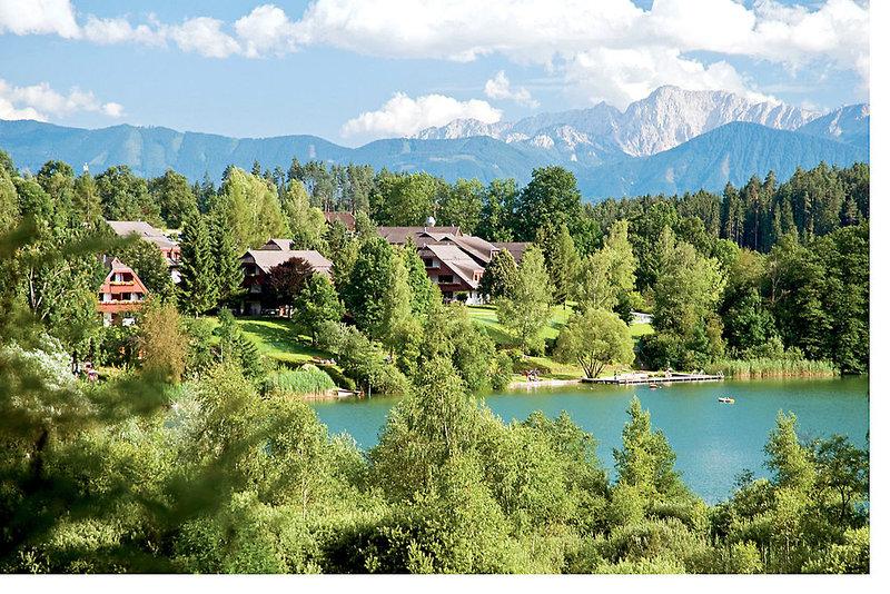 Das Ferienresort liegt direkt am Maltschacher See bei Kärnten
