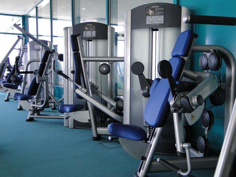 Das Fitnesstudio vom Hotel ist riesig