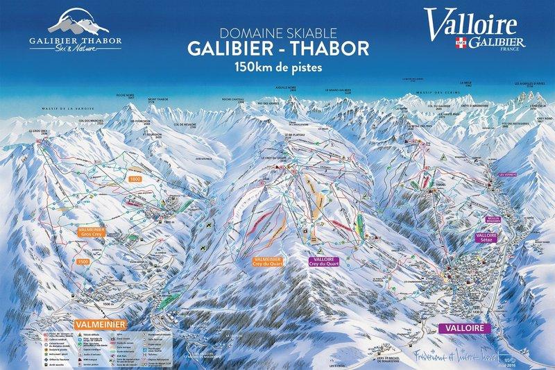 Das Skigebiet in Frankreich bei den französische Alpen