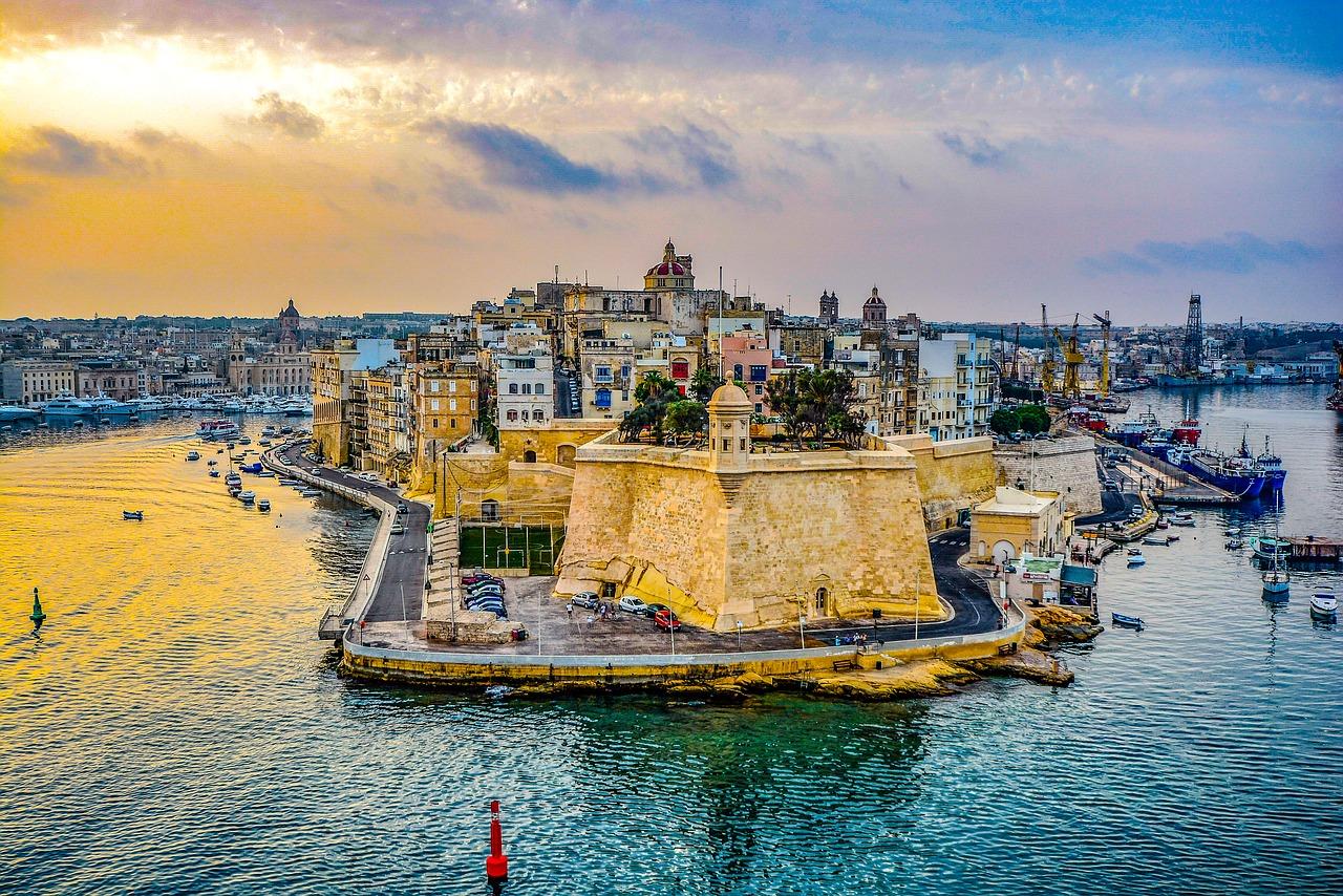 Der Hafen von Malta, bei Sonnenuntergang ist es hier am schönsten
