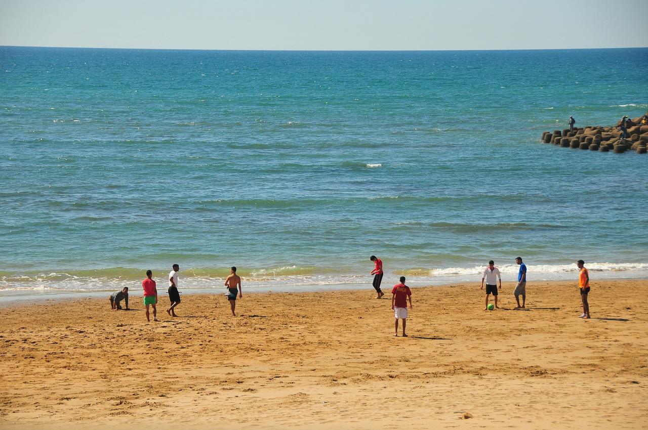 Der Strand an der Promenade