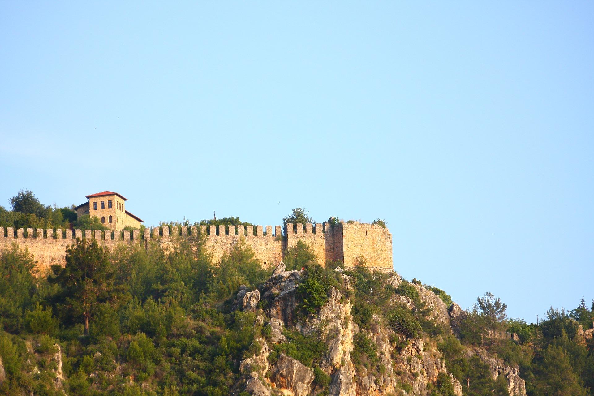 Die Berühmte Burg am Strandabschnitt in Side