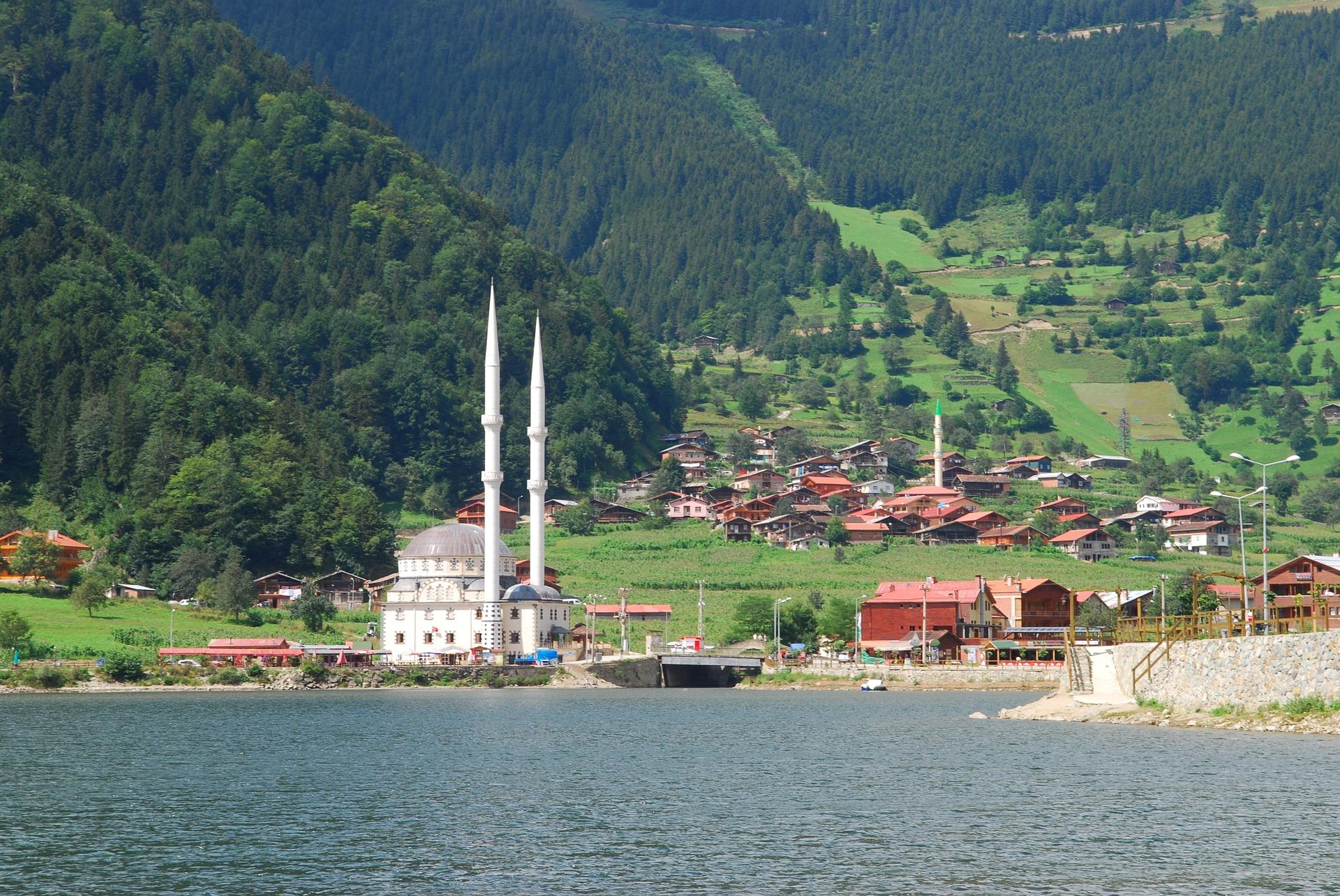 Die Landschaft in Trabzon am schwarzen Meer