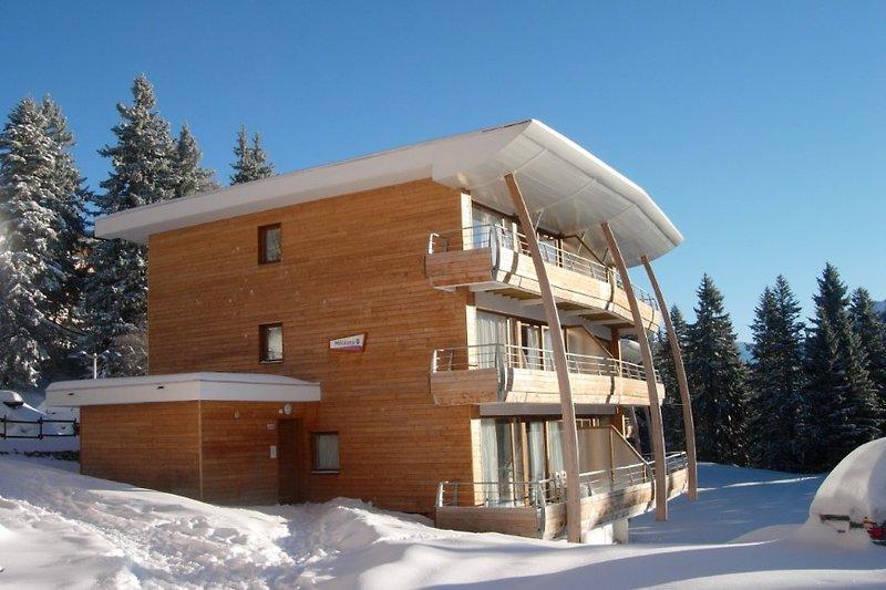 Die Unterkunft Les Villages in den französischen Alpen von vorne