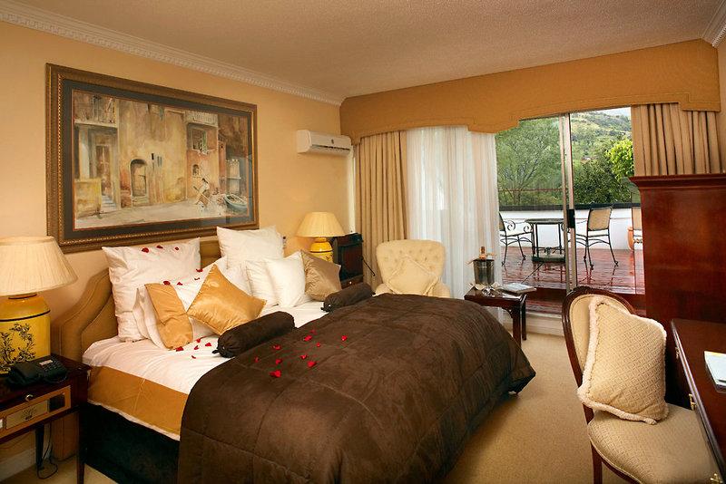 Ein Beispiel Zimmer des Hotels im Mantenga Nature Resort in Mbabane