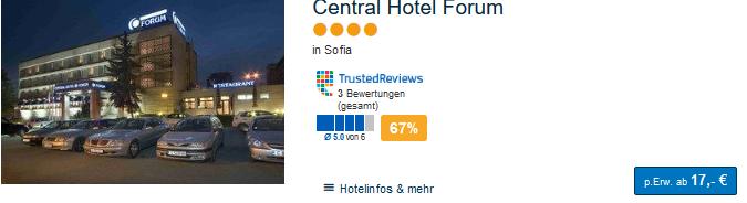 Günstiges Hotel in Bulgarien ab 17,00€ die Nacht in der Hauptstadt