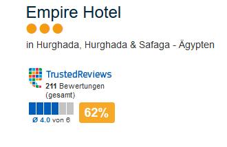 Günstigstes Reiseangebot für diese Region im Empire Hotel
