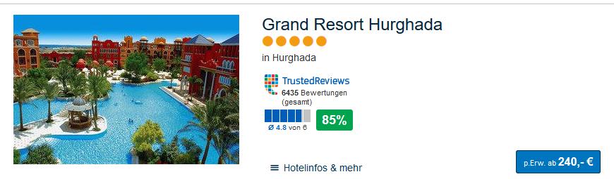 Grand Resort eine Woche All Inclusive ab 240,00€ der günstigste Deal 2019
