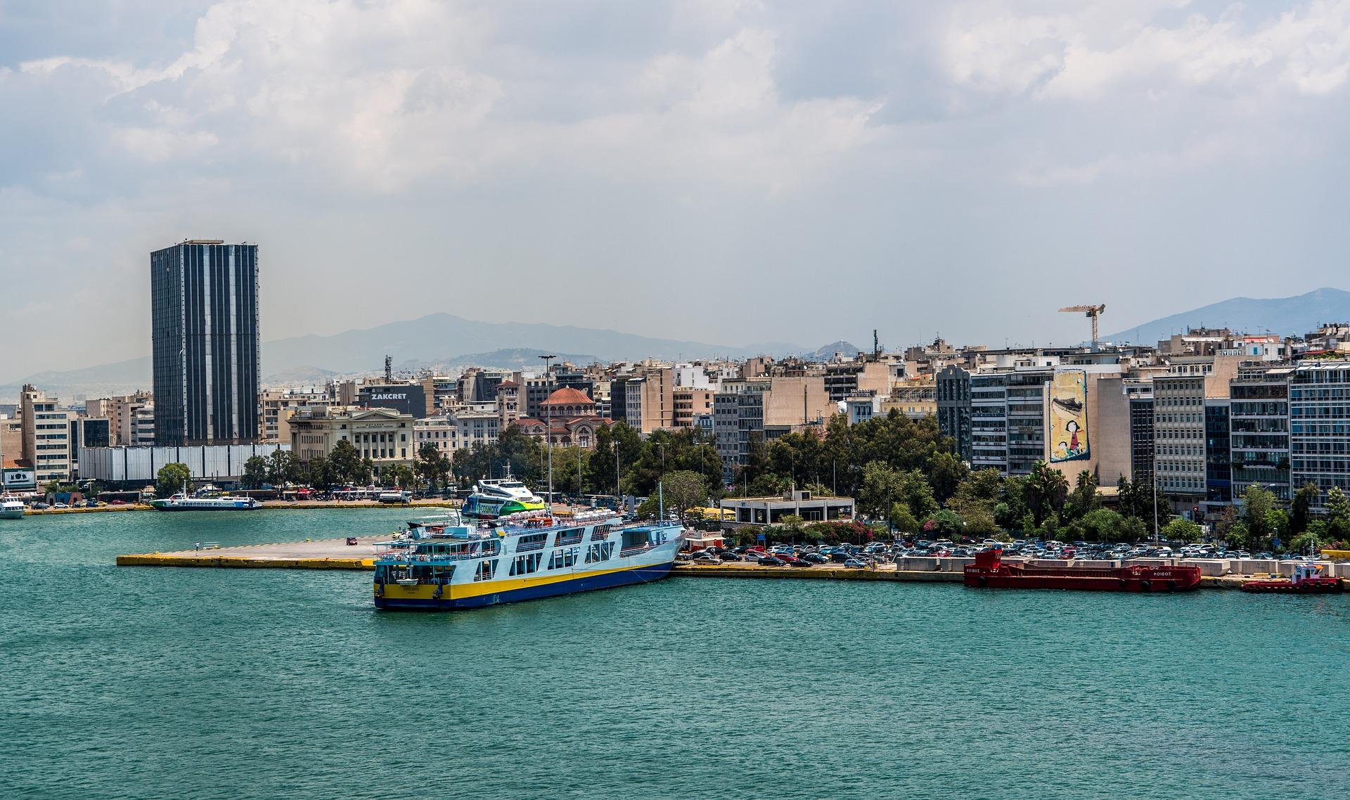 Hafen der Stadt -