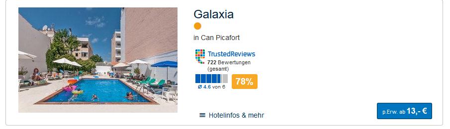 Hotel ab 13,00€ die Nacht Mallorca Urlaub 2019 - Screenshot