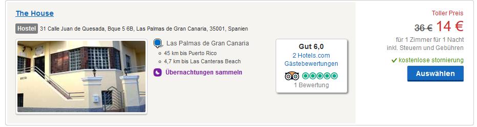 Hotel ab 14,00€ die Nacht - Screenshot