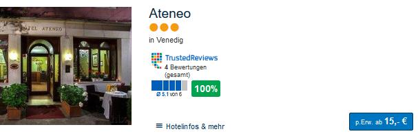 Hotelbeispiel Screenshot Nacht pro Person ab 15,00€