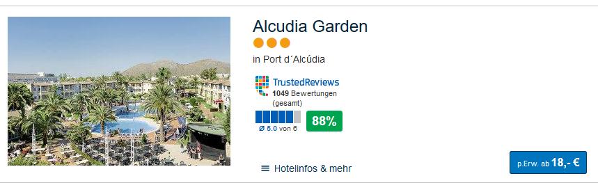 Hotelbeispiel auf Mallorca