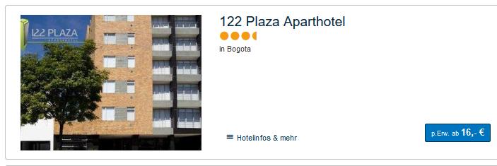 Hotels ab 17,00€ die Nacht Beispiel basierend auf 4 reisende