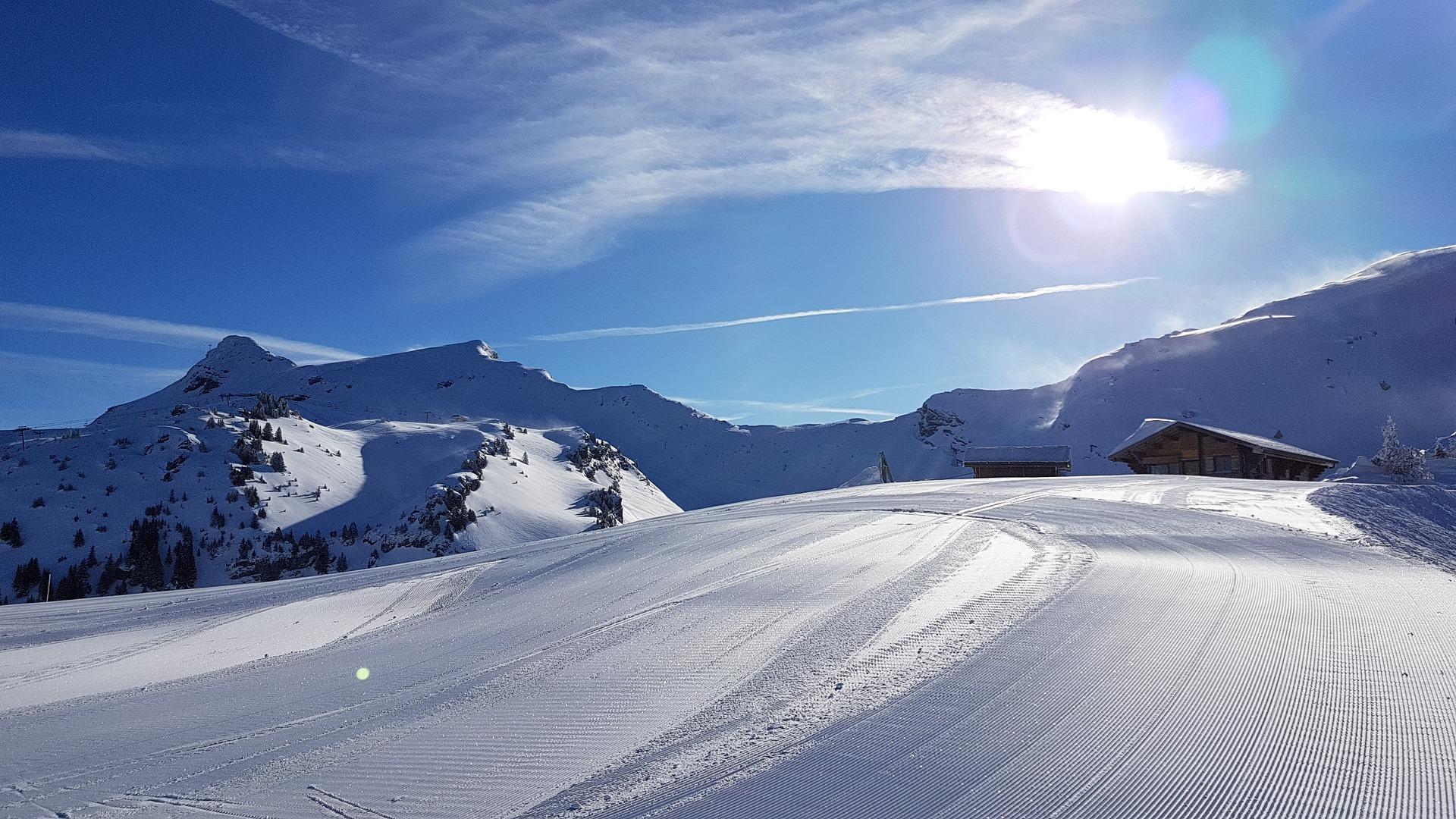Engelberg ein beliebtes Skigebiet in den Alpen der Schweiz
