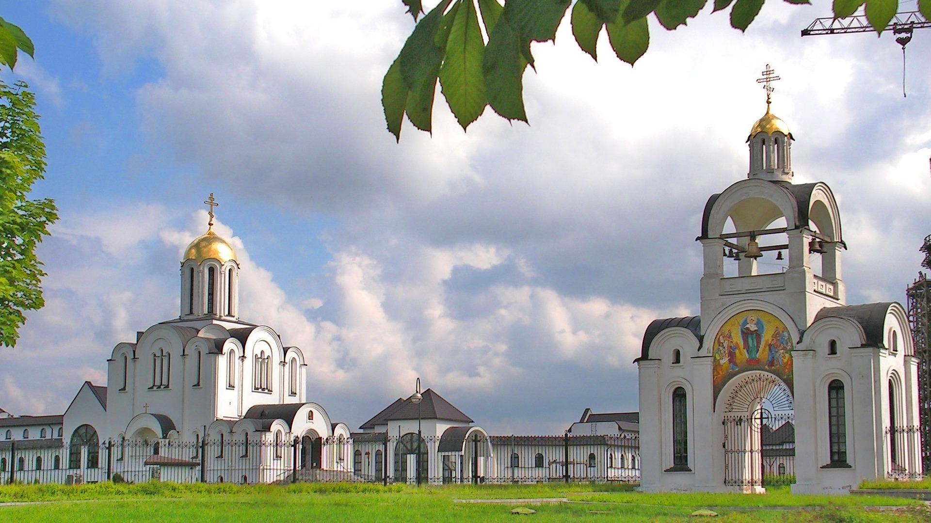 Minsk - die Orthodoxe Kirche in der Großstadt Namens Uspensky Kathedrale