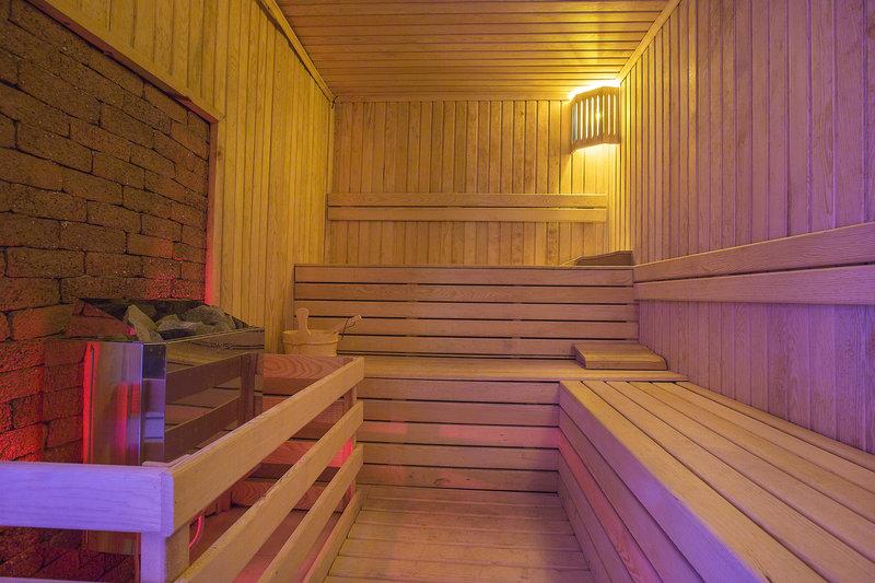 Natürlich verfügt das Hotel auch über einen Wellnessbereich - die Sauna