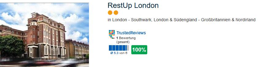 Restup London die günstige zwei Sterne Unterkunft in Southwark ab 15,00€