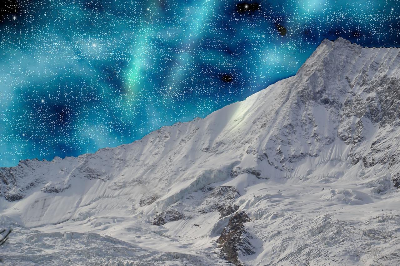 Saas Fee meine nummer zwei - da man von hier die Polarlichter perfekt in der Nacht sieht