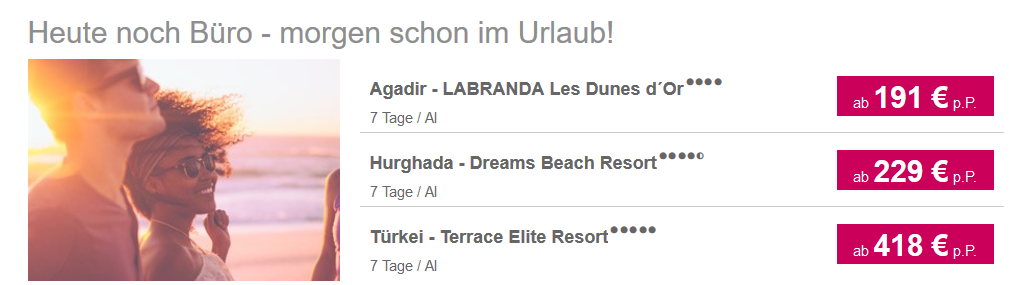 Screen Shot von 5vorflug - Lastminute Deals