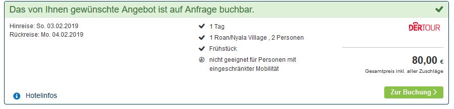 Screenshot Beispieldeal Swasiland Urlaub im Land der Monarchie - Hotels ab 40,00€ die Nacht - ab 40,00€ p.P