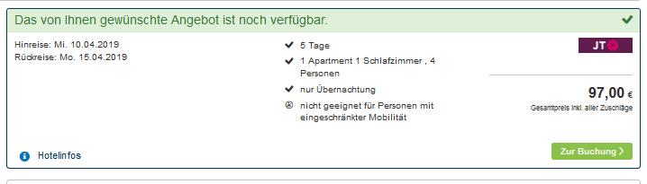 Screenshot Deal Apartment auf Rhodos ab 24,25€ 5 Nächte in Griechenland