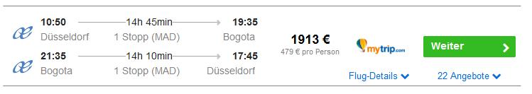 Screenshot Deal Für 479,00€ nach Kolumbien Städtereise nach Bogota in Südamerika