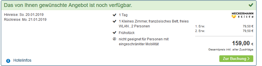 Screenshot Deal Rostock Rooftopbar am Ostseebad Warenmünde -Hotel Neptun günstig ab 79,50€