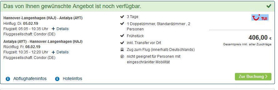 Screenshot Deal Schwarzmeerküste Türkei Urlaub in Uzungöl ab 203,00€