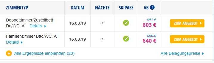 Screenshot Deal Skiurlaub All Inklusiv an der Piste - Urlaub in Vent Österreich