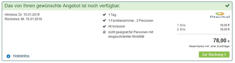 Screenshot Deal Wellnessurlaub im Bayrischen Wald günstig ab 39,00€ All Inclusive