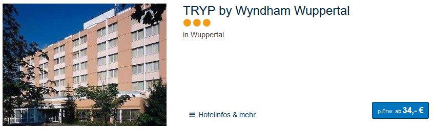 Screenshot Deal Wuppertal Städtereise im Ruhrgebiet ab 37,00€ Hotels in NRW buchen
