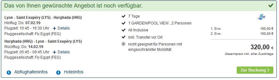 Screenshot Hurghada Deals - eine Woche All Inclusive ab 160,00€