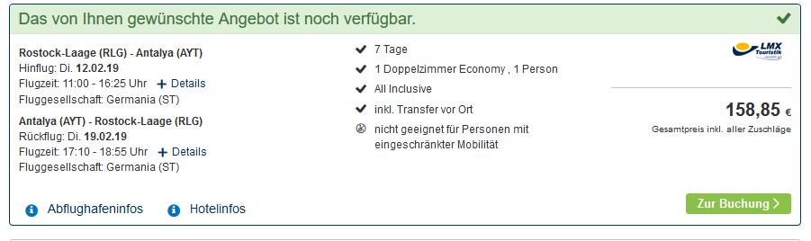 Screenshot Sinlge Urlaub in Side - eine Woche Türkei All Inclusive ab 158,85€