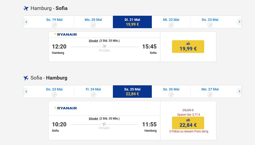 Screenshot Sofia Deals Flüge ab 19,99€ Top 10 Sehenswürdigkeiten der Hauptstadt