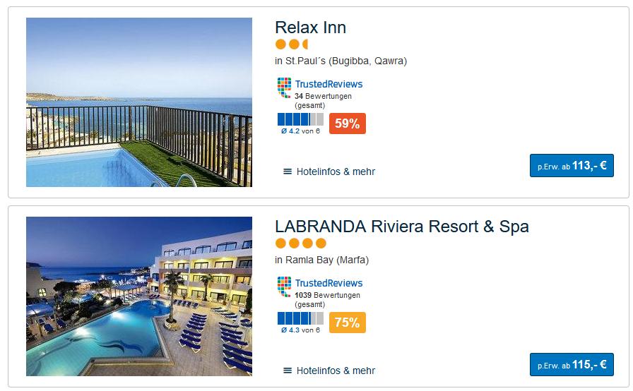 Screenshot Valletta Malta Urlaub auf der Insel - Bestpreisgarantie dank Preisvergleich
