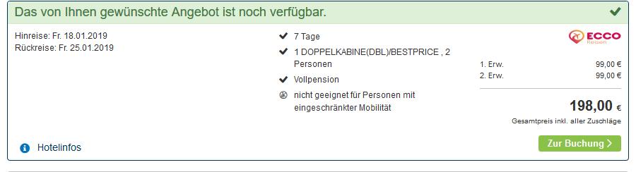 Screenshot vom Deal Nilkreuzfahrt - Vollpension günstig ab 99,00€ - Ägypten Rundreise als Kreuzfahrt