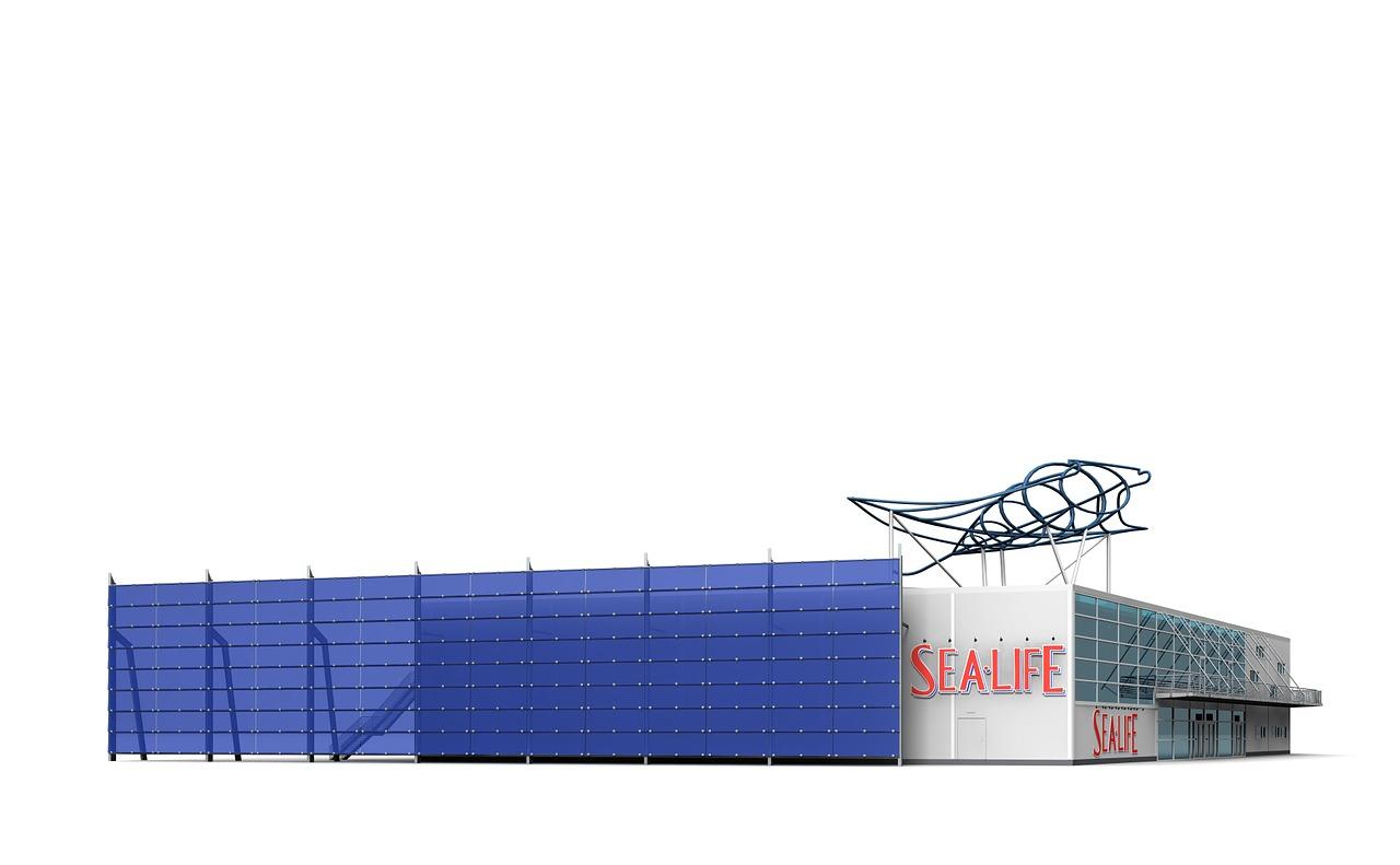 Das Gebäude vom Sea-Life