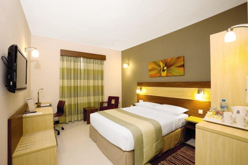 Sharjah Dubai günstiges Hotel Beipsiel vom Zimmer