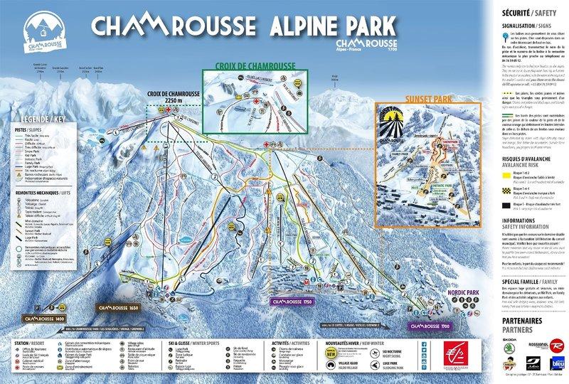 Skiurlaub in Frankreich - Chamrousse Alpine Park Karte