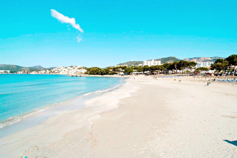Strandabschnitt in der Haupstadt Paguera
